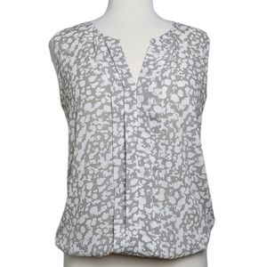 RW&CO. Top Blouse Sleeveless Pleats Abstract Print